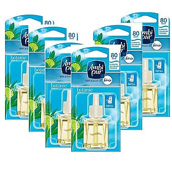 6 X 20Ml Ambi Pur Febreze Plug In Refill Air Freshener - Botanic Breeze (Spring)