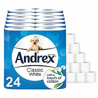 Andrex Toilet Rolls Classic White, 24 Rolls, Classic White