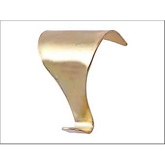 Basics Prepacked Moulding Hooks Electro Brass x 2 015662