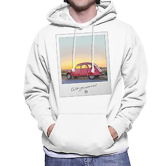 Citro?n 2CV Wish You Were Here Photo For Light Men's Hooded Sweatshirt