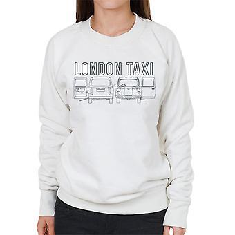 London Taxi Company TX4 Open Door Angles Women's Sweatshirt