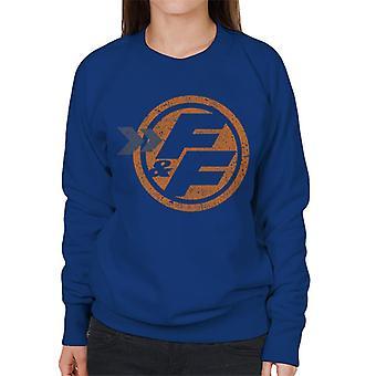 Schnelle und wütende Orange FF Icon Frauen's Sweatshirt
