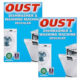 Oust Dishwasher & Washing Machine Deep Cleaning Descaler 2Sachet, 2pk