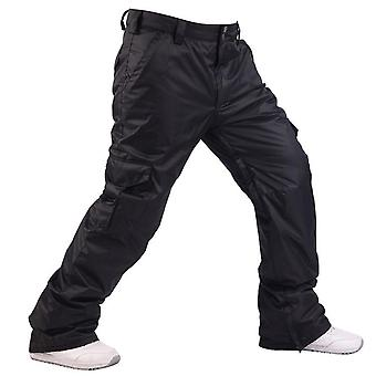 Waterproof Men's Snowboarding Pants With Zipper Pocket Warm Skiing Trousers,