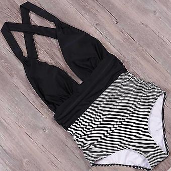 ملابس السباحة ملابس السباحة المرأة عالية الخصر الاستحمام ملابس الشاطئ ملابس السباحة بلا ظهر ارتداء