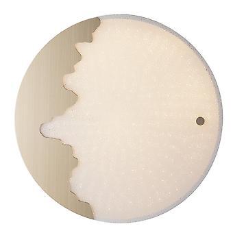 Fan Europe Chic - LED Dimmbare Runde Flush dekorative Deckenleuchte, Weißgold, Sprachsteuerung, 3000- 4000-6000K