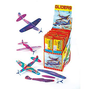 Flying gliders (pack of 6) 1 assorted