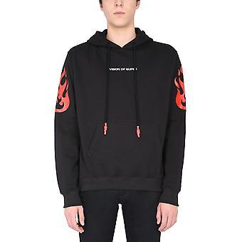 Vision Of Super Vosb2rockblack Men's Black Cotton Sweatshirt