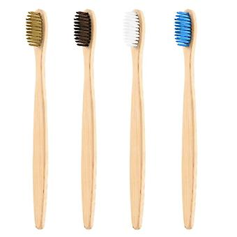 Soft Bristles Toothbrushes - Unisex Natural Bamboo Wooden Handle