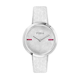 Furla Women'S My Piper White Dial Calfskin Leather Watch