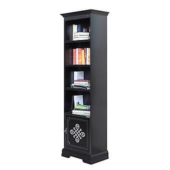 Black High Bookcase 1 Door 'Stendhal;;