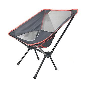 Black Oxford Cloth  Mesh  Steel Pipe Outdoor Ultralight Portable Folding Chair