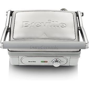 Breville VHG026 DuraCeramic Ultimate Electric Grill & Griddle, Silver