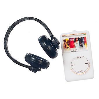 Dolls House Mp3 -soitin kuulokkeilla Miniatyyri Moderni 1:12-asteikko lisävaruste