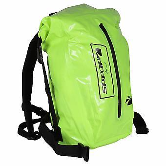 Spada Dry Motorcycle Rucksack 30L Fluo Yellow Hi-Vis WP Backpack Bike Luggage