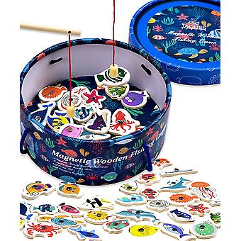 Jaques of london magnetic fishing game wooden toys fishing game –– perfect toddler toys recommen