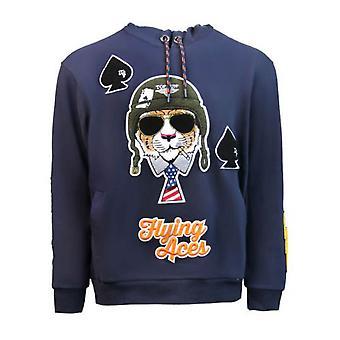 Top Gun Flying Aces Pullover Hoodie Blue