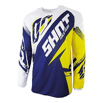 Shot Contact Fast Yellow Adults MX Jersey