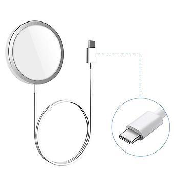 Bakeey magsafe magnetisk 360 graders aluminiumslegering trådløs lader holder stativ for iphone 12-serien