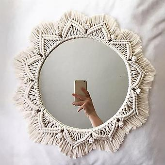 Home Decor Handmade Tapestry Makeup Mirror