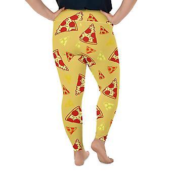 Plus storlek Pizza Leggings