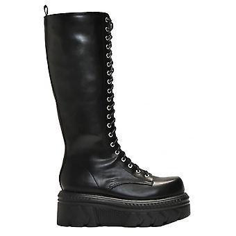 Koi Footwear Knee High PU Laced Wedge Boot