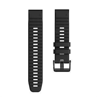 Для Garmin Fenix 6X 26mm Смарт-часы Быстрый релиз Силиконовой Wrist Strap Watchband (черный)