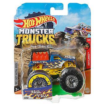 גלגלים חמים מפלצת משאיות 1:64 לגרור y'כל
