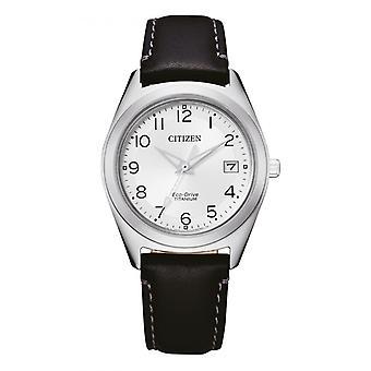 Kobieta zegarek CITIZEN MONTRES FE6150-18A - Czarna bransoletka skórzana