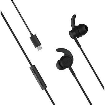 Official Motorola Razr Denon USB-C Earphones Headphones - Black - SH38C48284