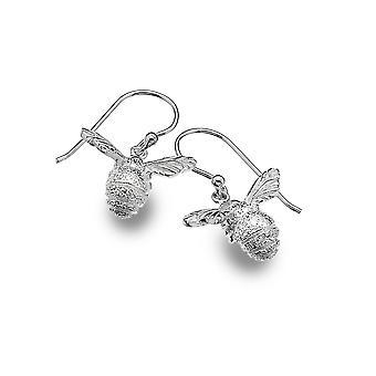 Sterling Silver Earrings - Origins Bee Textured