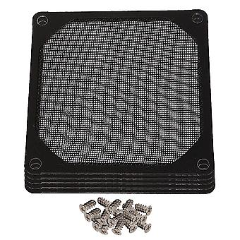 5Pcs 80mm Metal PC Computer Chassis Fan Case Strainer Dustproof Filter Black