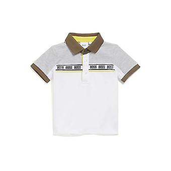 Hugo Boss Boys Hugo Boss Infant Boy's Polo Shirt met logo taping