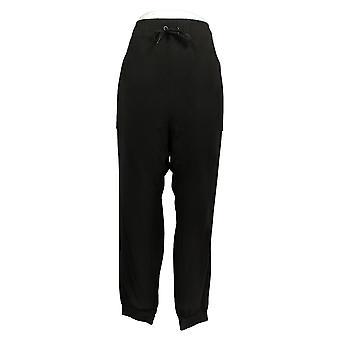 عناق Duds Women's Petite Pants Comfortwear الركض الأسود A381715