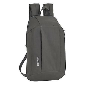 Casual Backpack Safta Grey