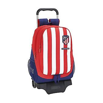 School Rucksack with Wheels 905 Atlético Madrid Blue White Red