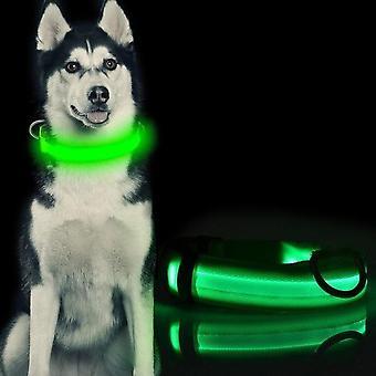 Halskjede Hund Nylon LED Stl M 40-48 cm