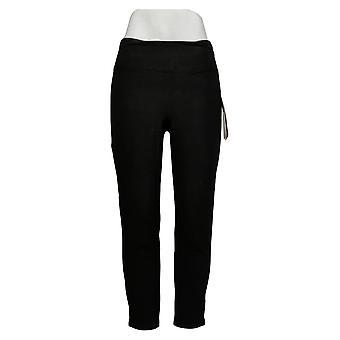 Kvinder med Control Women's Petite Pants Slim Leg Black A391212