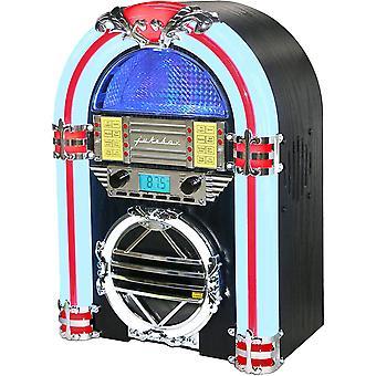 Silva Schneider Jukebox 66 UKW CD-Radio CD, UKW Schwarz, Wei, Rot