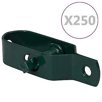 vidaXL Fence Wire Clamp 250 pcs. 90 mm Steel Green