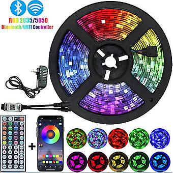 32.8ft Color Changing Led Strip Lights, Bluetooth Led Lights With App Control, Remote With Music Sync
