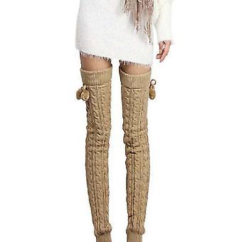 Frauen gestrickt warme lange Beinwärmer/Knie-Stocks