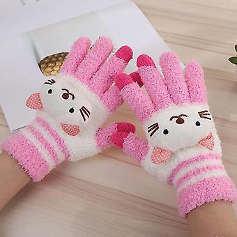 Winter Warm Cartoon Gloves, Women Fashion Gloves