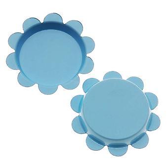 Final Sale - New Light Blue Flower Bottle Caps Craft Scrapbook Jewelry No Liners 25mm (24)