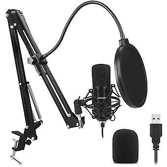 FengChun USB Computer Mikrofon-Kit Plug Play USB Nierenmikrofon-Podcast-Kondensatormikrofon mit USB