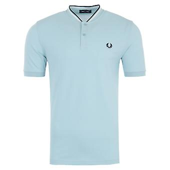 Fred Perry Bomber Collar Pique Shirt - Chalk Blue