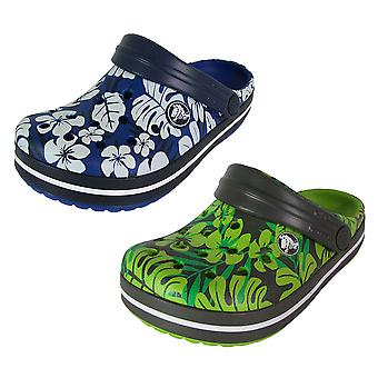 Crocs Crocband tropischen Druck Clog Schuhe
