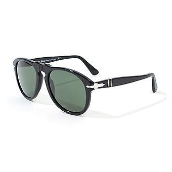 Persol 649 Original Green Lens Sunglasses - Black