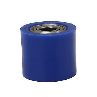 Plastic & Metal Blue Chain Roller Slider 10mm ID Tensioner Wheel Guide