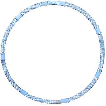 Blue detachable stainless steel hoola hoops with thick premium foam x2885